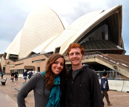 Chillin on a rainy day at the Sydney Opera House.