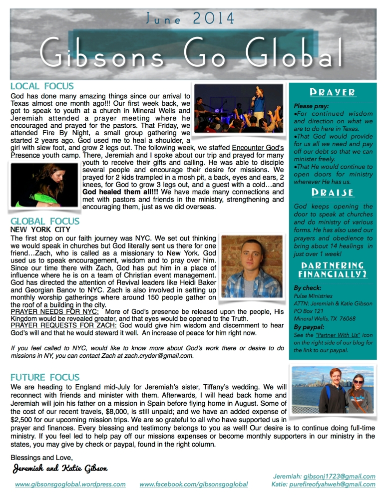 June 2014 Monthly Newsletter