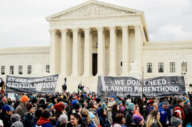 March for Life in front of Supreme Court on January 27, 2017