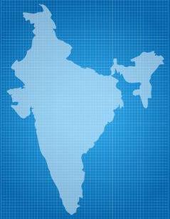 64508542-india-on-blueprint-on-a-white-background-